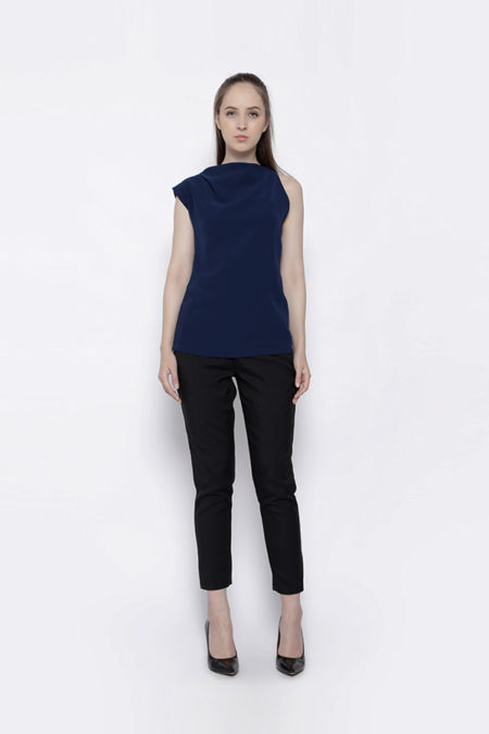 FRAYED BLUE TOP -1