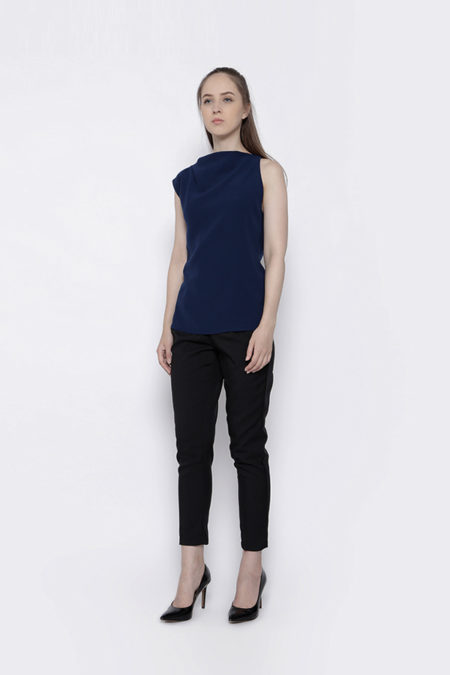 FRAYED BLUE TOP -2