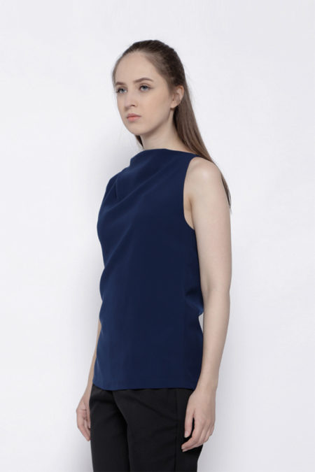 FRAYED BLUE TOP -3
