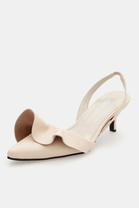 Gracia Sling Back Leather Pumps - 3