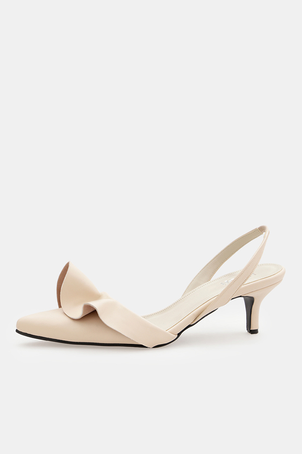 Gracia Sling Back Leather Pumps - 4