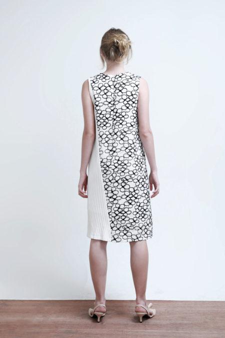 Katarina Flower Plisse Dress - 4